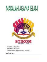 ISLAM ADALAH AGAMA YANG DAPAT MENJANJIKAN KEBAHAGIAAN DUNIA DAN AKHIRAT.docx