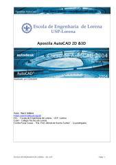 Apostila AutoCAD 2004 - 2D e 3D
