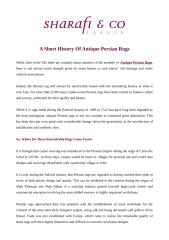 A Short History Of Antique Persian Rugs.pdf