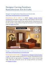 Designer Carving Furniture Rameshwaram Arts & Crafts.pdf