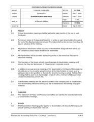 Shareholders Meetings - Policy.doc