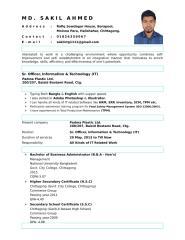 Sakil Ahmed CV (06-16-2017) IT.doc