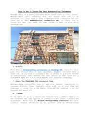 Tips On How To Choose The Best Waterproofing Contractors.pdf