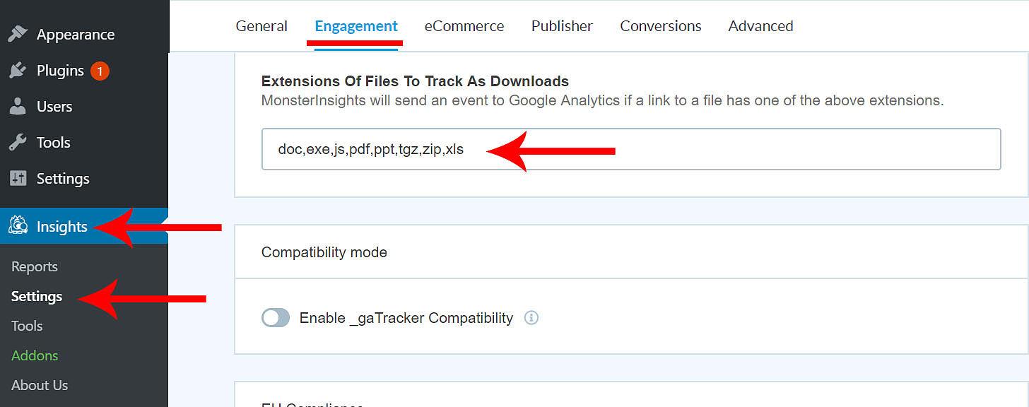 WordPress track file downloads