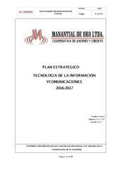 PL-GIT-01 PLAN ESTRATEGICO sistemas 2015 MANATIAL 1er borrador.pdf